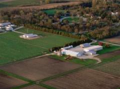 Aerial photo of U of I south farms