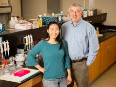 Animal sciences professor Alfred Roca, research scientist Yasuko Ishida