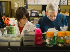 Erdman and Zuniga in laboratory
