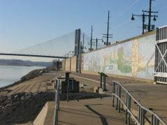 Floodwall in Cape Girardeau