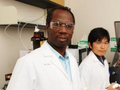 Professor Isaac K.O. Cann poses in his laboratory