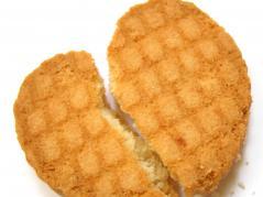 broken-heart shaped cookie