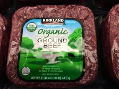 organic ground beef label