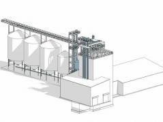 Schematic of the new feed technology center