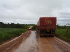 Muddy road in Mato Grosso