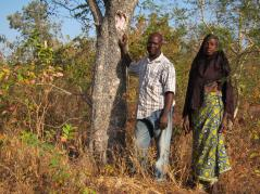 farming couple from W National Park, Benin