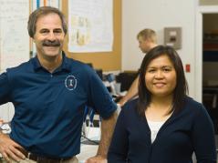 Researchers Richard Gates and Grace Danao
