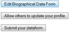 Edit Biographical Data Form button
