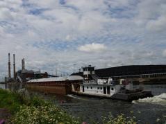 tugboat pushing a barge