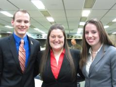 Pictured (left to right): Jacob Meisner, Kaity Carroll, and Erica Navis