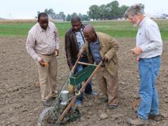African soybean breeders visit U of I