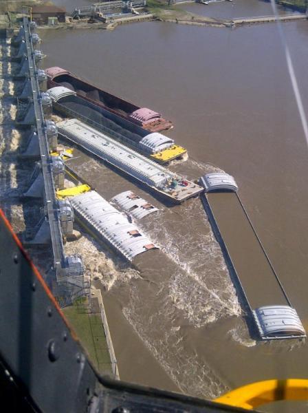 7 sunken barges