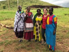 Anna Waller with Maasai women who are trainers of the Marketplace Literacy Program in Arusha, Tanzania.