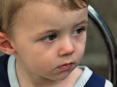 Sad child.