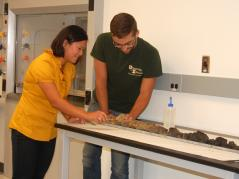 Soils demonstration in new lab