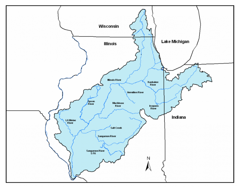 Illinois watershed map
