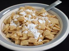 bowl of shredded wheat