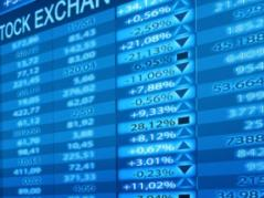 close up of stock market board